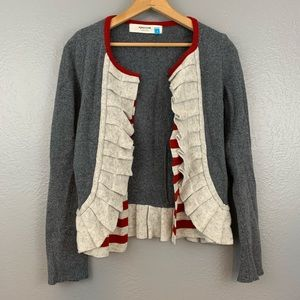 Anthropologie Sparrow Masked Stripes Cardigan